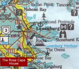 Location/map of The Rose Cape House